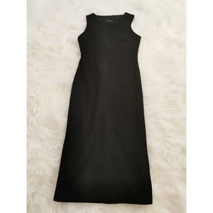 MARCIANO BLACK BODYCON SNAKE PRINT DRESS SMALL